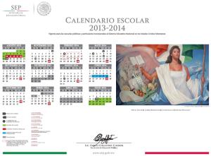 CALENDARIO OFICIAL 2013-2014